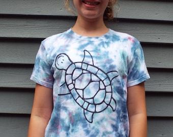 Kids Turtle Shirt, Kids S, Tie Dye Tshirt for the Turtle Lover, Childrens Turtle Tshirt, Reptile Birthday, Tortoise Kids Tiedye Animal Lover