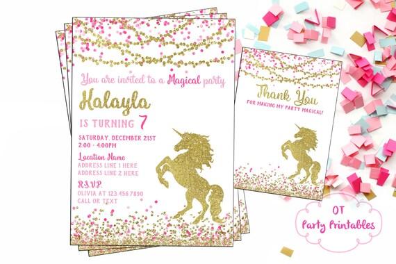 licorne invitation anniversaire invitation unicorn digital. Black Bedroom Furniture Sets. Home Design Ideas