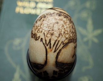 Tree of Life - Oestra - Spring Equinox - Pagan, Wicca, Witchcraft, Easter, Wooden