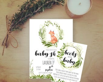 Woodland Animal Baby Shower Book Request
