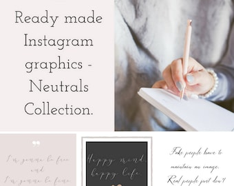 Neutrals Branding - Instagram Template - Social Media Caption - Business Branding - Graphic Design - Ready Made Instagram Template - Design