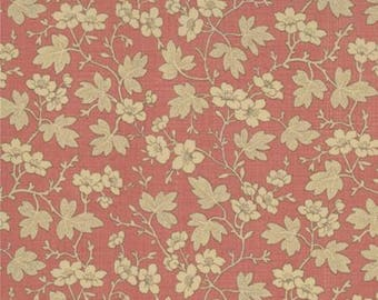 French General Floral Cornouille Red - 1/2 yd. cuts