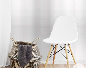 Checkers Wallpaper / Geometric traditional or removable wallpaper L004