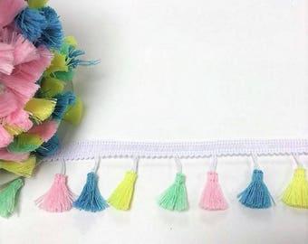 Pastel pompon ribbon
