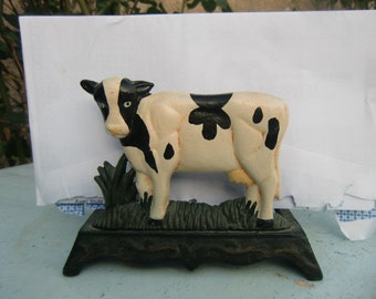 """1960 Vintage French """"mail carrier-shaped cow"""""""