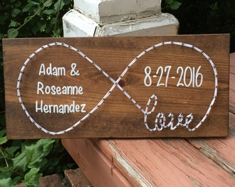 MADE TO ORDER Custom Infinity Love Anniversary String Art Sign