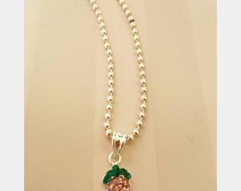 Strawberry Glitter necklace