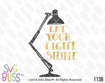 Let Your Light Shine SVG, Inspirational, Christian, Be the Light, Shine, Bright, Cute, Original, Cricut & Silhouette Compatible Cut File DXF