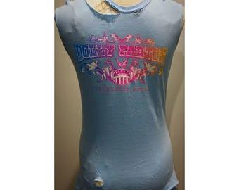 Custom Distressd Dolly Parton Tshirt