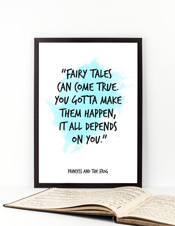 Märchen ... Prinzessin und der Frosch-Zitat Disney Poster