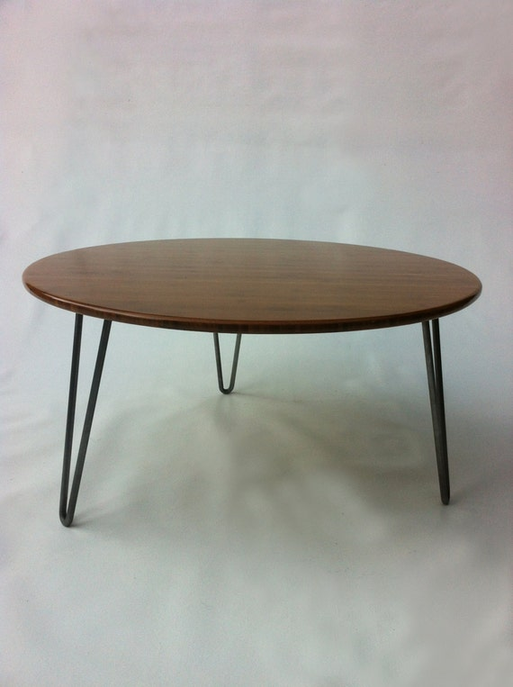 High Quality 34 Round Mid Century Modern Coffee Table Atomic Eames
