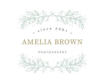 Premade Logo-Photography logo-Business Logo-Business Branding-Logo Design-Watermark-Custom Logo-Boutique Logo