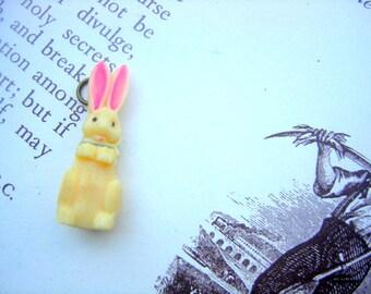 Vintage bunny pendant rabbit pendant