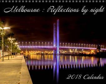 2018 Calendar, Wall Calendar, Photo Calendar, Melbourne, Reflections,