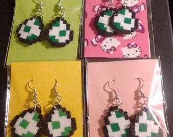 yoshi egg earrings