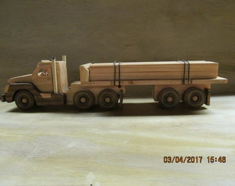 Homemade Wooden Toy Lumber Truck
