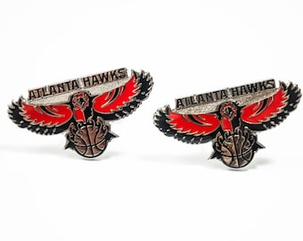 Atlanta Hawks Cuff Links -- FREE SHIPPING with USPS First Class Domestic Mail