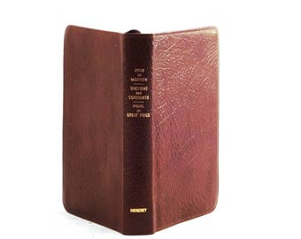 The Book of Mormon - Doctrine and Covenants - Pearl of Great Price - An Account Written by the Hand of Mormon, published 1977, leather bound