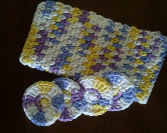 Blue, Purple and Yellow Spa Set