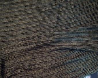 Dark Olive woven knit viscose fabric