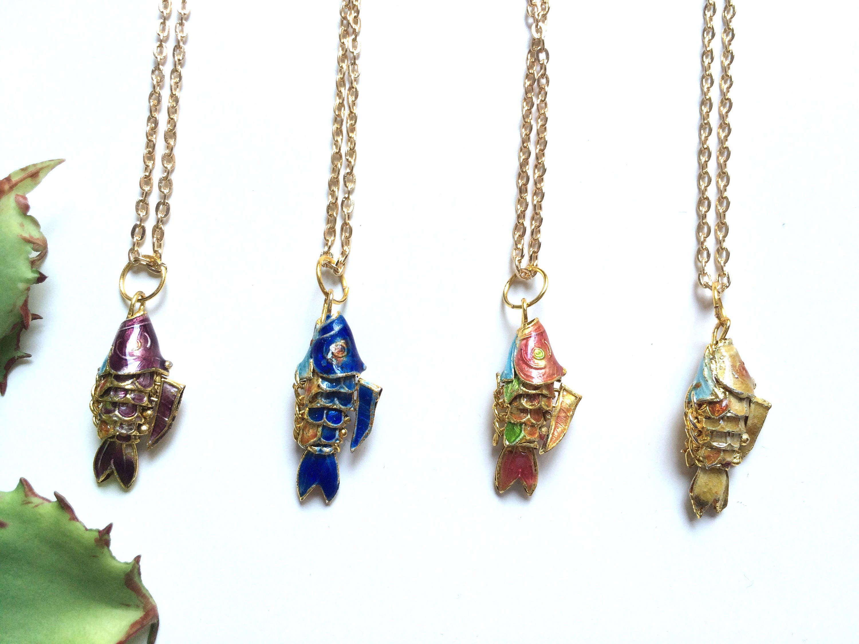enlarged necklace burch lapis and products pendant tory necklaces jewelry enamel fish