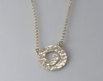 Spiral Necklaces Sterling Silver Necklace Spiral Pendant Hammered  Spiral