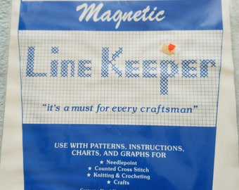 Craft World Magnetic Line Keeper for Counted Cross Stitch Needlepoint or Other Charts, Keeps Your Place on Charts or Graphs