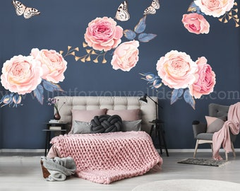 Exceptionnel Flower Wall Decal, Floral Wall Decal, Watercolor Wall Decals, Flower Wall  Stickers, Watercolor Flower Wall Decal, Nursery Wall Decal 04 0003