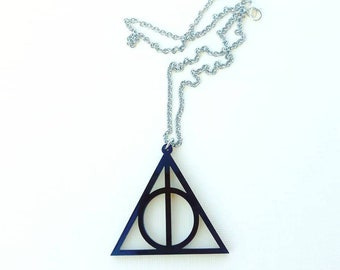 Deathly Hallow Acrylic Necklace