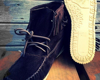 Authentic mocassins for men With fringes
