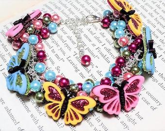 Beaded Butterfly Bracelet