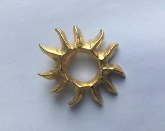 Lancome brooch/ pendant  gold tone