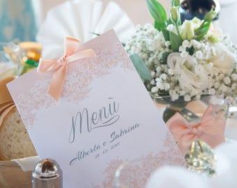 Custom Wedding Menu Salmon