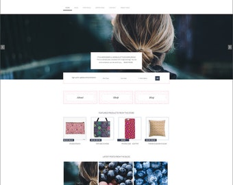 WordPress Ecommerce Theme -  Genesis Child Theme - Ecommerce WordPress Theme - Responsive WordPress Theme - Woocommerce Theme: Indigo Days
