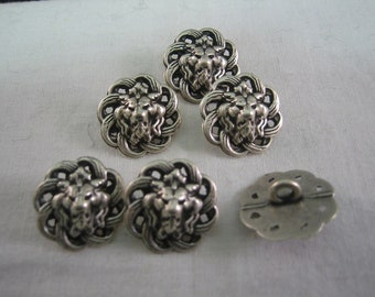"""Pewter button, Filagree Button, Size is  5/8"""" (15mm) Lot of 6 Small"""