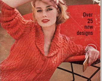 Vintage Vogue Knitting 1961 No 59 26 Designs Original Pattern Book