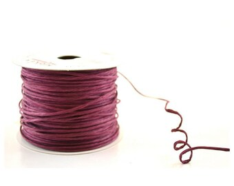 Paper Cord Wired Burgundy Flexible Tourbillon Craft Cord 10 yards