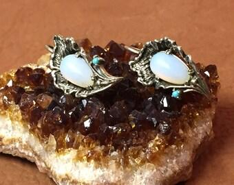 Pewter Moonstone Earrings