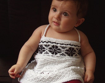 "Baby/toddler tank top (""Sweetness"") knitting pattern (PDF)"