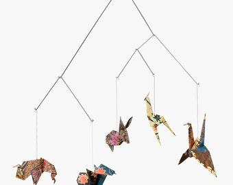 Baby mobile / Zoo Origami Mobile: BALI - crib decoration - Nursery decoration - birth gift