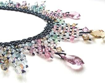 GEMACHT, um die letzte Rose des Sommers Kristall Halskette bestellen