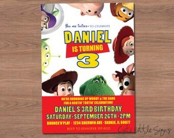 Toy Story Birthday Invitation Digital Download