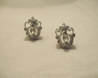 Vintage Silver Costume Earrings