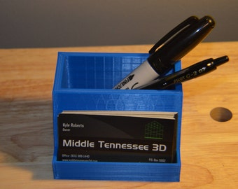 3D Printed Business Card and Pen Holder