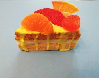 Orange Cake. Hand made soap
