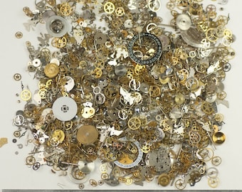 100g huge pack watch parts Jewellery making steampunk altered art craft cyberpunk cogs gears crafts