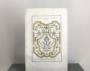 Rare French Garden Engraving c. 1765 Galimard 14 x 9 1/4 inches