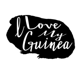 I Love Guineas Decal