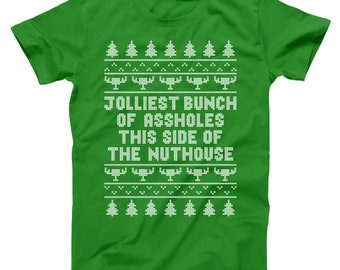 Jolliest Bunch Of Assholes Funny Christmas Vacation Movie Griswold Basic Men's T-Shirt DT1641