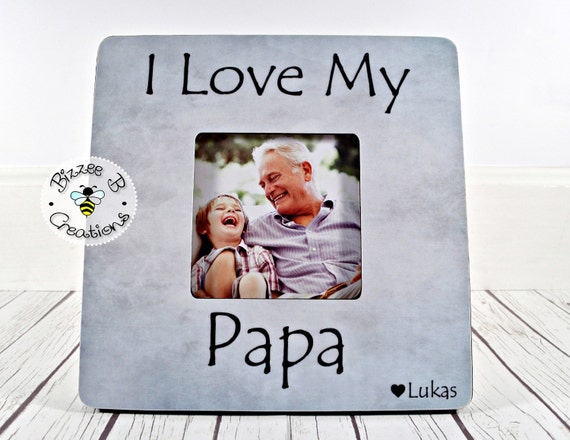 ON SALE Personalized Papa Picture Frame I Love My Papa